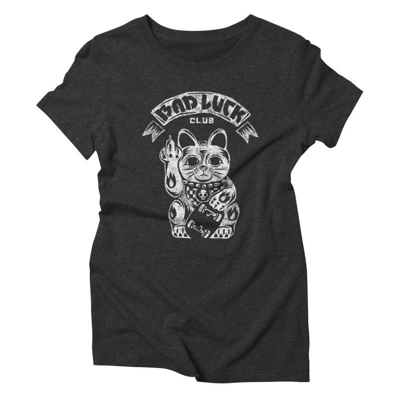Bad Luck Club Women's Triblend T-Shirt by saimen's Artist Shop