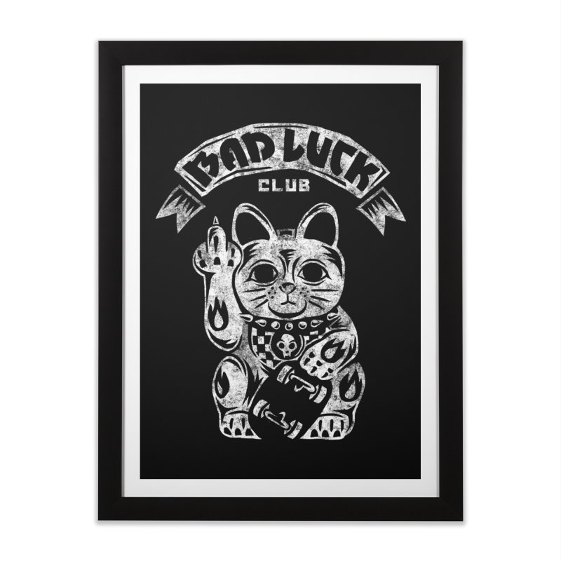 Bad Luck Club Home Framed Fine Art Print by saimen's Artist Shop