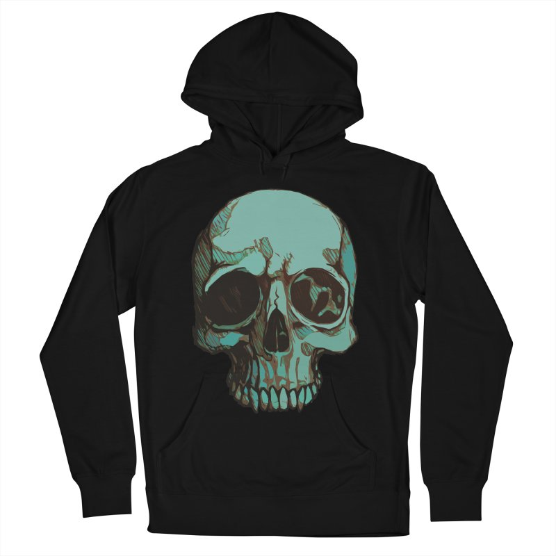 skull i (sketch) Men's French Terry Pullover Hoody by saintdevil's Artist Shop
