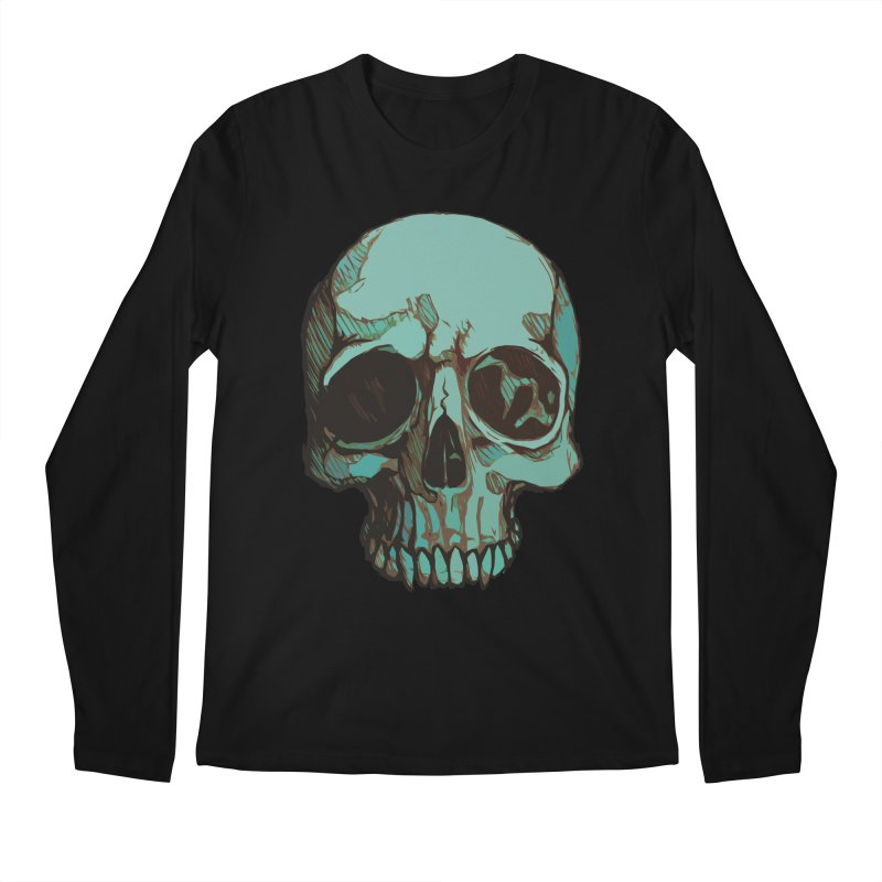 skull i (sketch) Men's Longsleeve T-Shirt by saintdevil's Artist Shop
