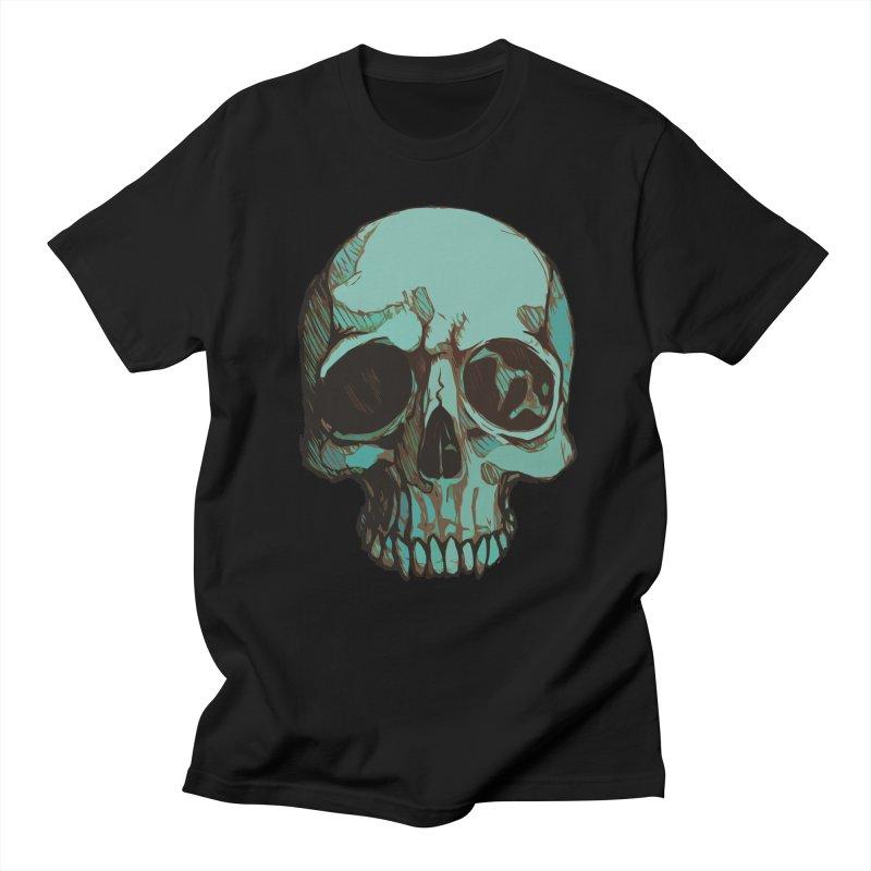 skull i (sketch) Men's T-shirt by saintdevil's Artist Shop