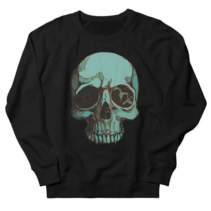 skull i (sketch) Men's French Terry Sweatshirt by saintdevil's Artist Shop