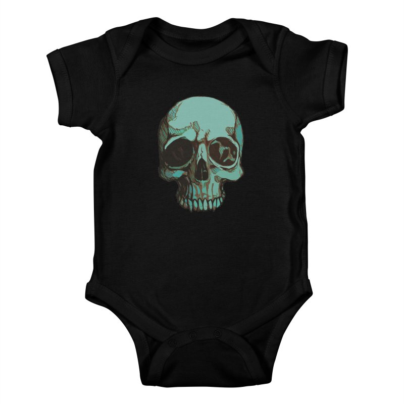 skull i (sketch) Kids Baby Bodysuit by saintdevil's Artist Shop