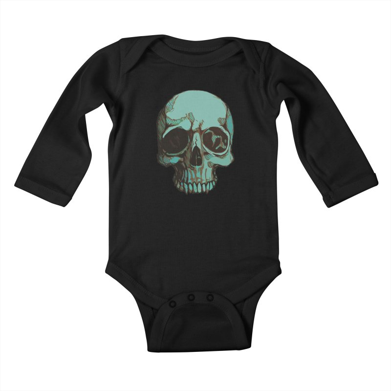 skull i (sketch) Kids Baby Longsleeve Bodysuit by saintdevil's Artist Shop