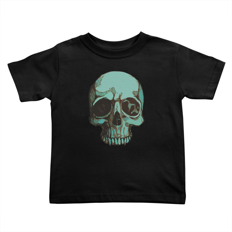 skull i (sketch) Kids Toddler T-Shirt by saintdevil's Artist Shop