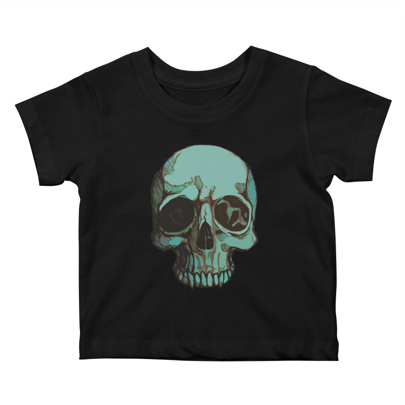 skull i (sketch) Kids Baby T-Shirt by saintdevil's Artist Shop