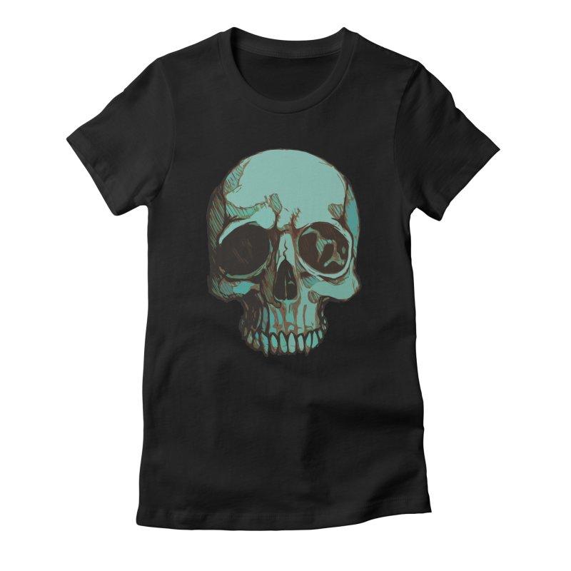 skull i (sketch) Women's T-Shirt by saintdevil's Artist Shop