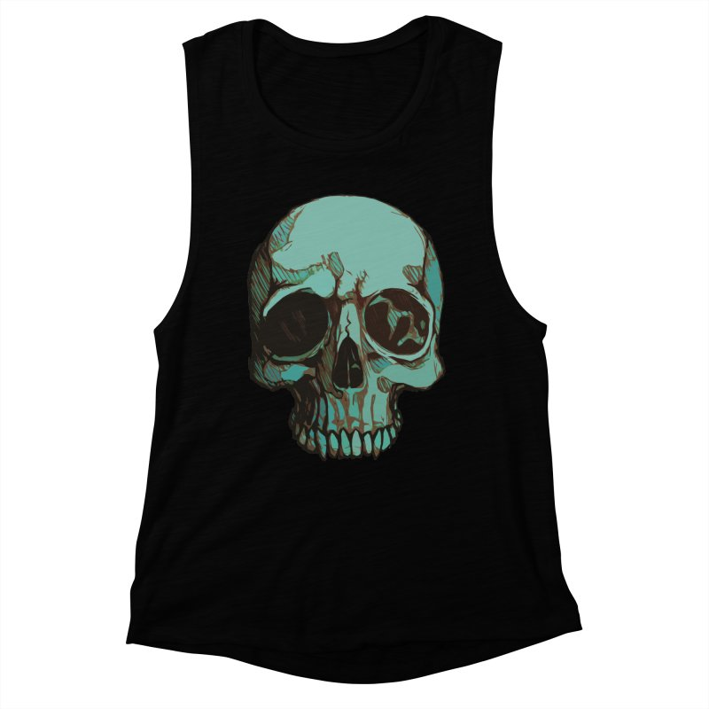 skull i (sketch) Women's Muscle Tank by saintdevil's Artist Shop