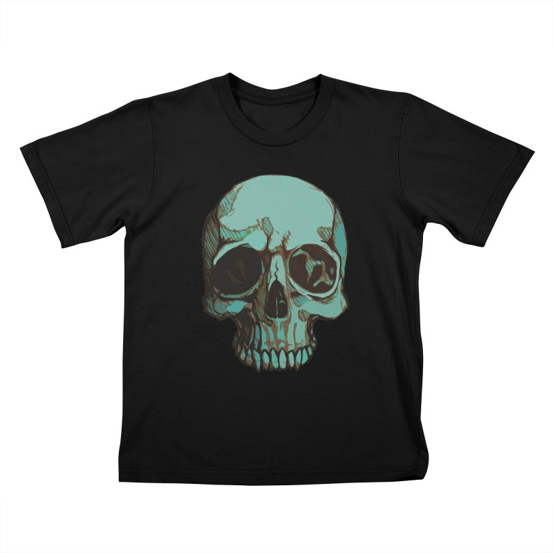 skull i (sketch) Kids T-Shirt by saintdevil's Artist Shop