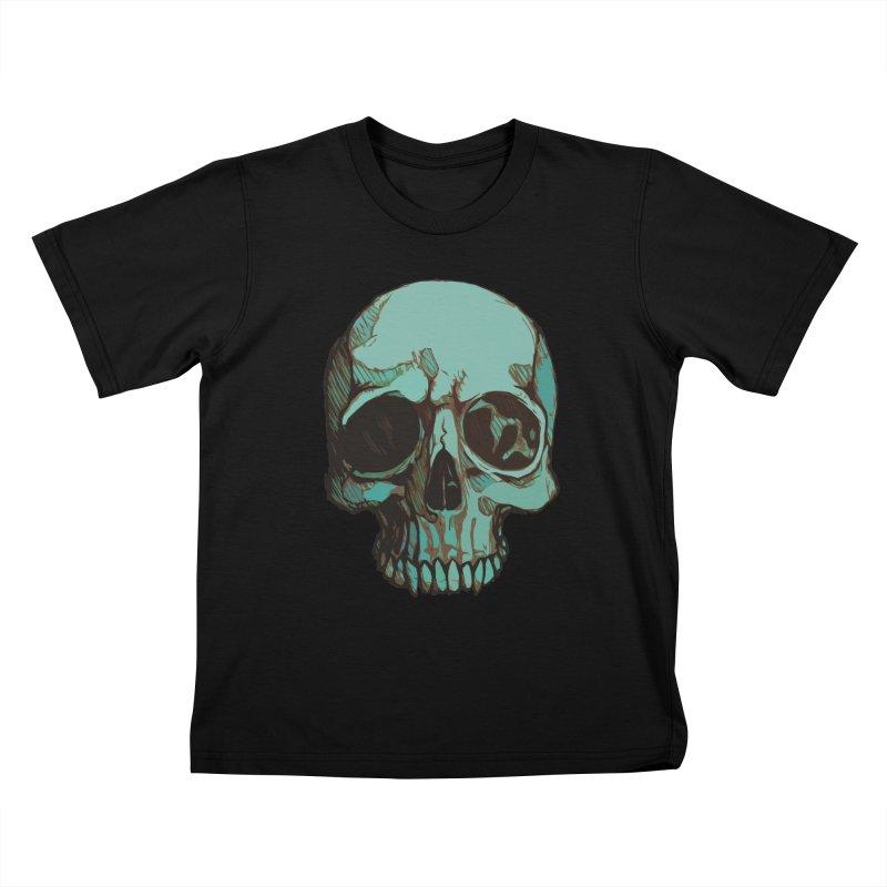 skull i (sketch) Kids T-shirt by saintdevil's Artist Shop