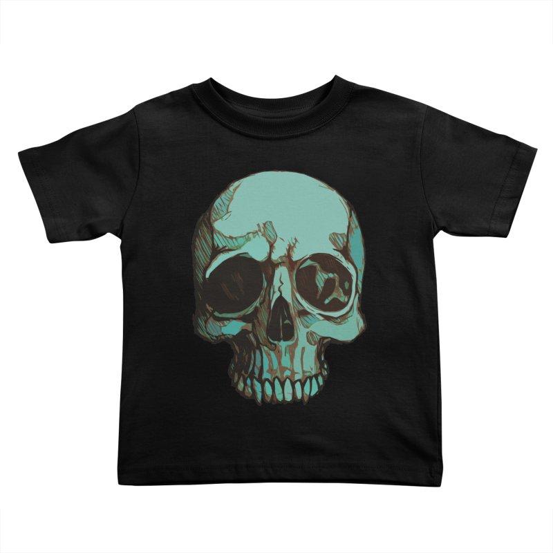 skull i (sketch) Kids Toddler T-Shirt by saintdevil's Artist Shop