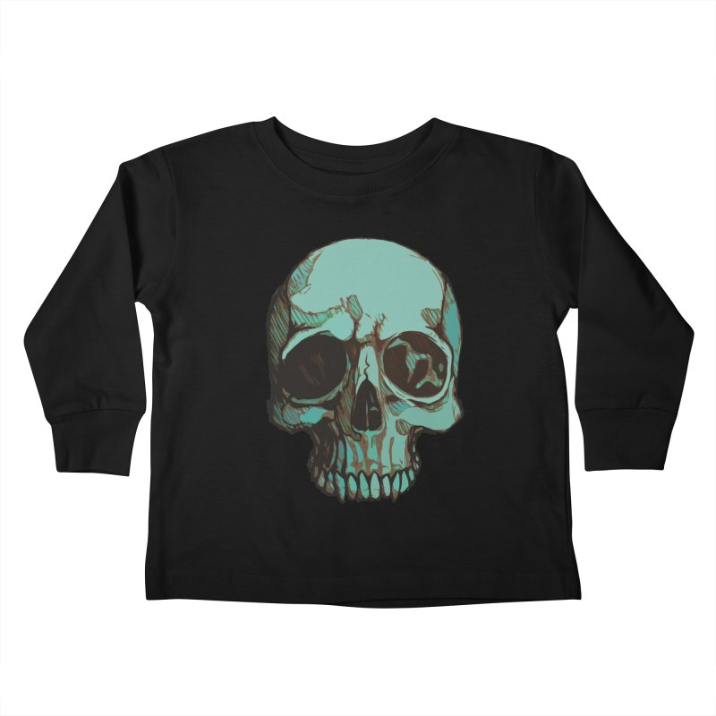 skull i (sketch) Kids Toddler Longsleeve T-Shirt by saintdevil's Artist Shop