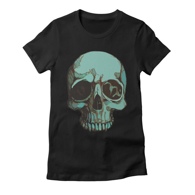 skull i (sketch) Women's Fitted T-Shirt by saintdevil's Artist Shop