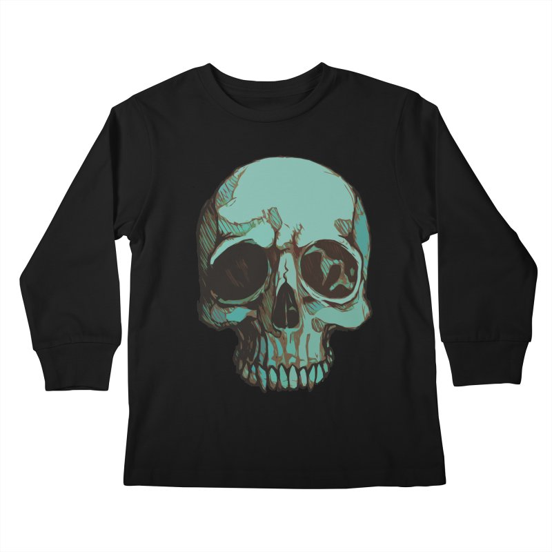 skull i (sketch) Kids Longsleeve T-Shirt by saintdevil's Artist Shop