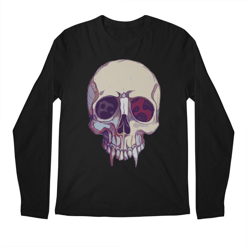 skull ii (vampire) Men's Regular Longsleeve T-Shirt by saintdevil's Artist Shop