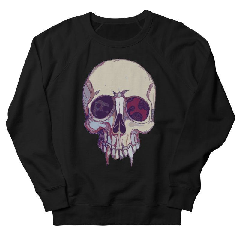 skull ii (vampire) Men's French Terry Sweatshirt by saintdevil's Artist Shop