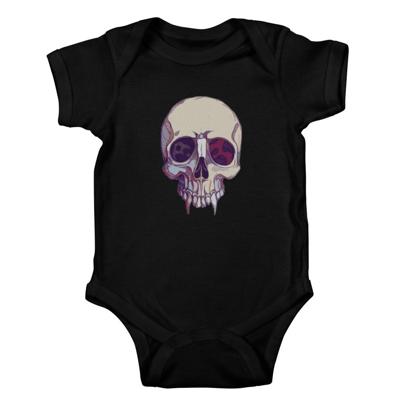skull ii (vampire) Kids Baby Bodysuit by saintdevil's Artist Shop