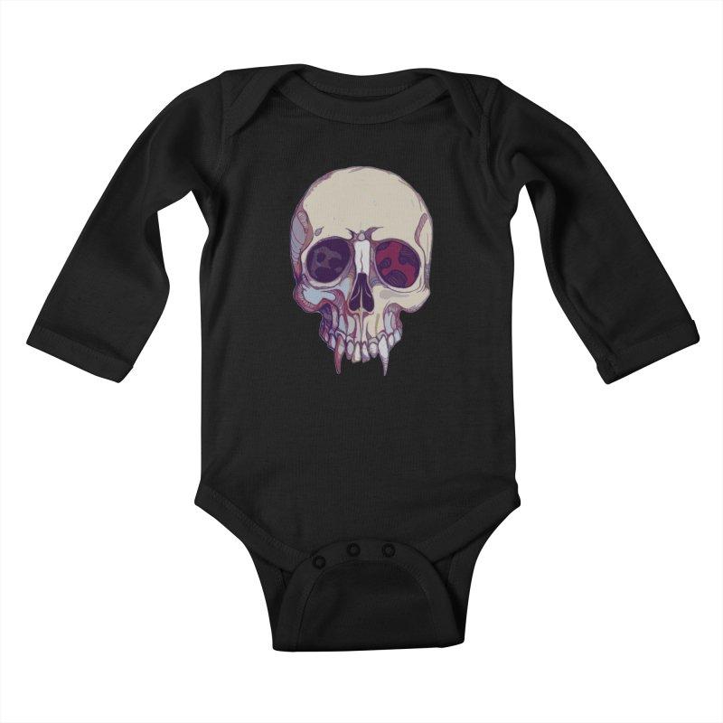 skull ii (vampire) Kids Baby Longsleeve Bodysuit by saintdevil's Artist Shop