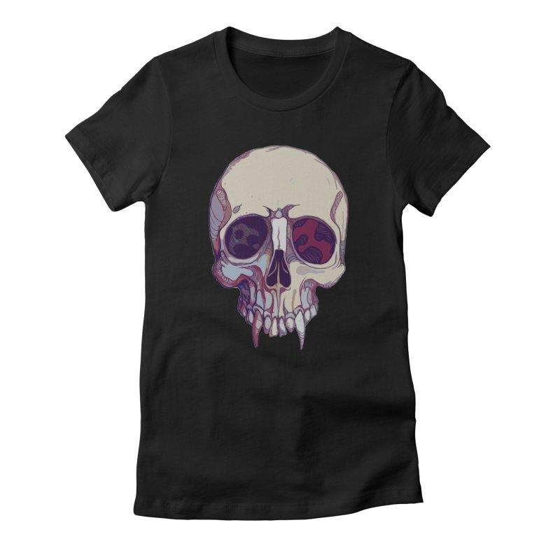 skull ii (vampire) Women's T-Shirt by saintdevil's Artist Shop
