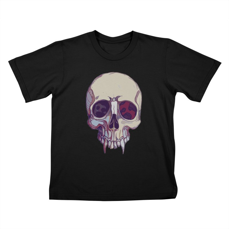 skull ii (vampire) Kids T-Shirt by saintdevil's Artist Shop