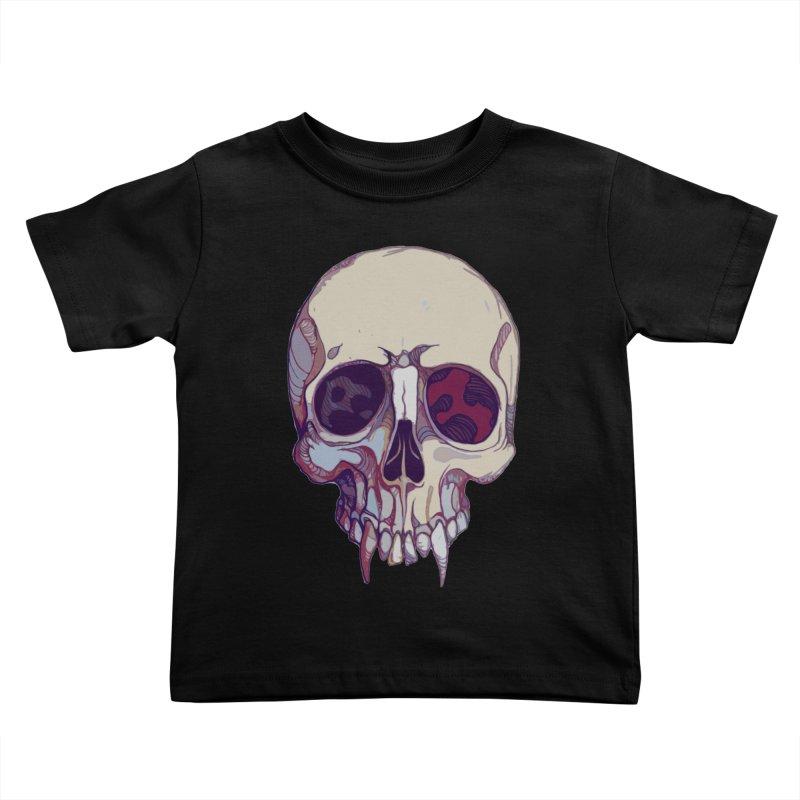 skull ii (vampire) Kids Toddler T-Shirt by saintdevil's Artist Shop