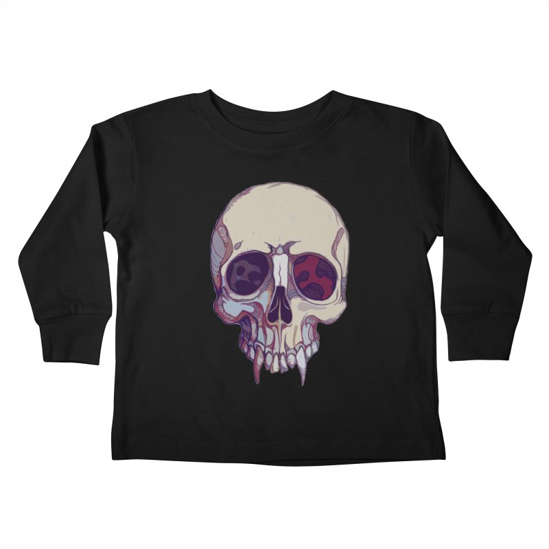 skull ii (vampire) Kids Toddler Longsleeve T-Shirt by saintdevil's Artist Shop