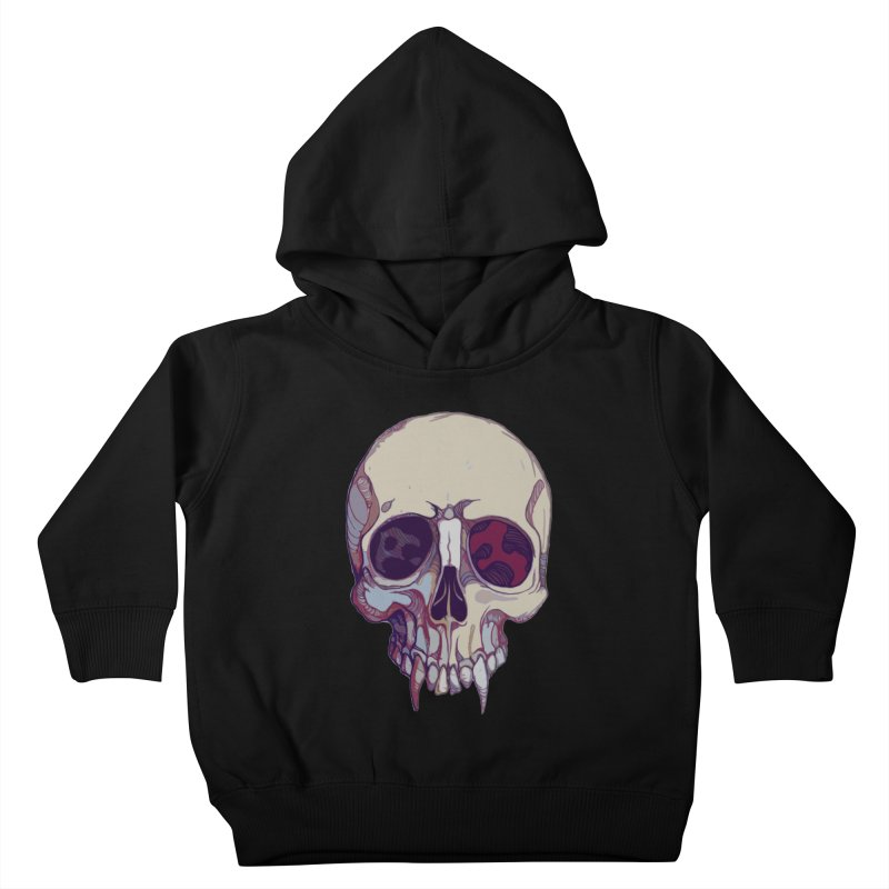 skull ii (vampire) Kids Toddler Pullover Hoody by saintdevil's Artist Shop