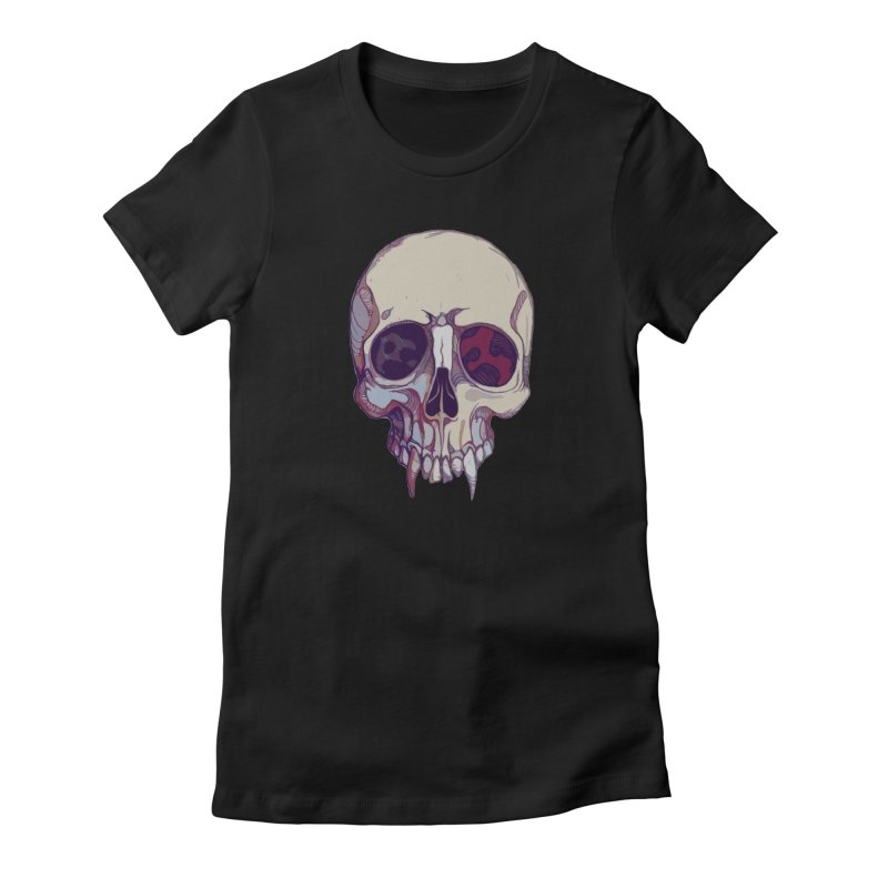 skull ii (vampire) Women's T-Shirt by saintdevil's Artist Shop