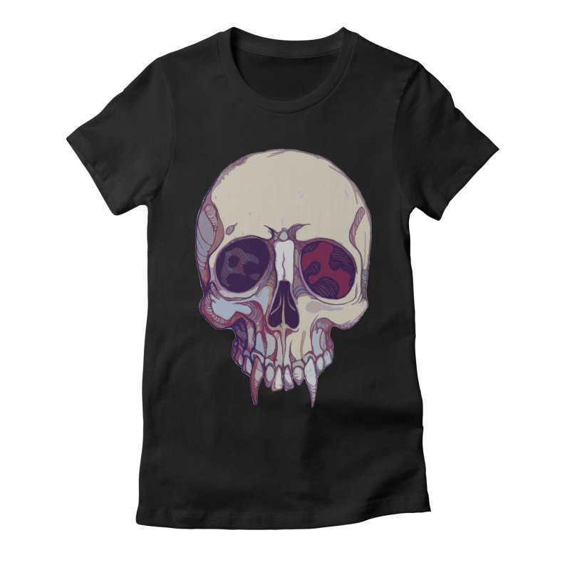 skull ii (vampire) Women's Fitted T-Shirt by saintdevil's Artist Shop