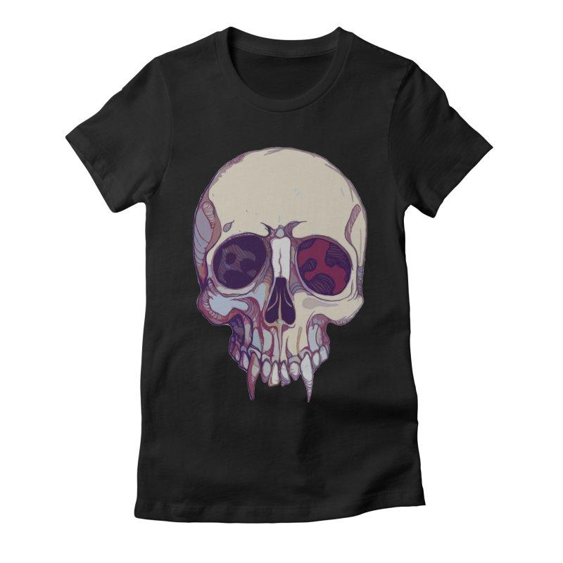 skull ii (vampire) Women's Fitted T-Shirt by saintdevil's Artist Shop