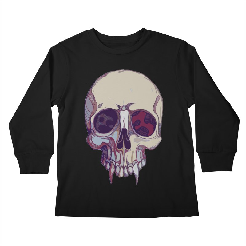 skull ii (vampire) Kids Longsleeve T-Shirt by saintdevil's Artist Shop