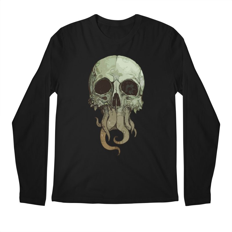 skull iii (cthulhu) Men's Longsleeve T-Shirt by saintdevil's Artist Shop