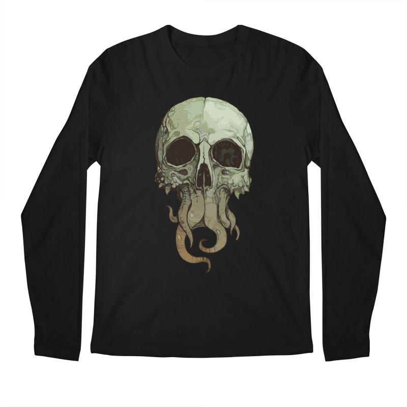 skull iii (cthulhu) Men's Regular Longsleeve T-Shirt by saintdevil's Artist Shop
