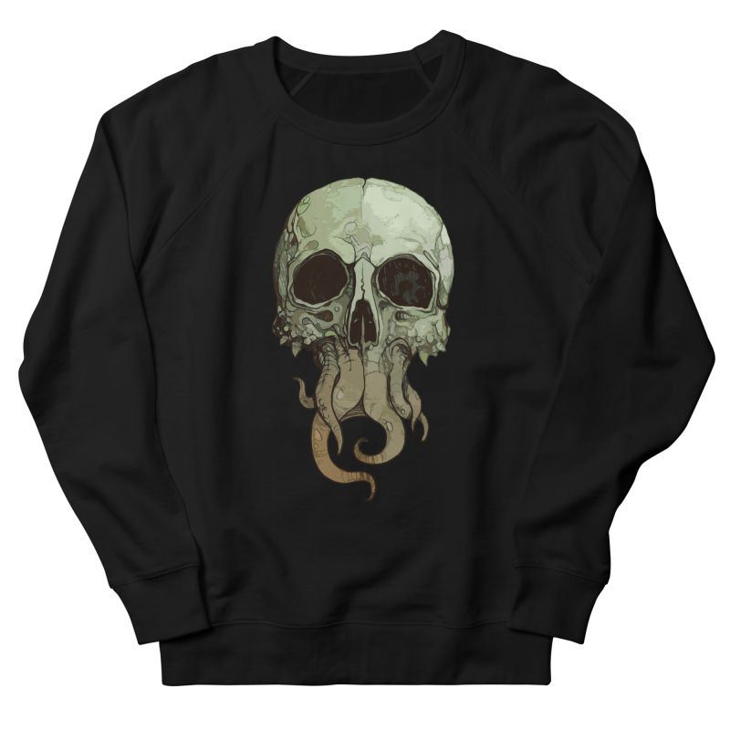 skull iii (cthulhu) Men's French Terry Sweatshirt by saintdevil's Artist Shop
