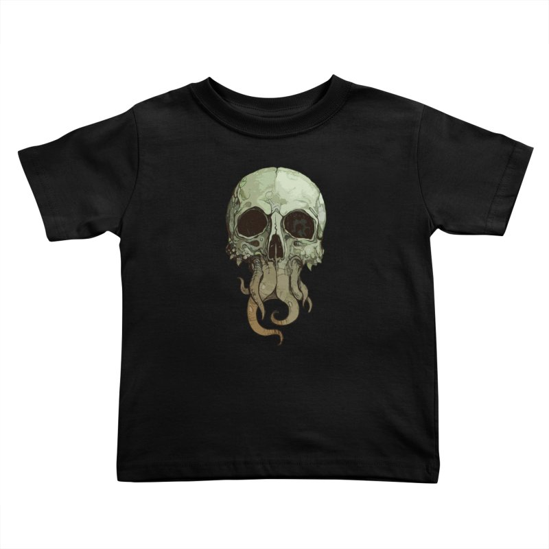 skull iii (cthulhu) Kids Toddler T-Shirt by saintdevil's Artist Shop