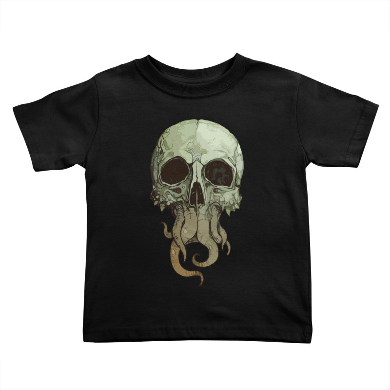 skull iii (cthulhu) Kids Toddler T-Shirt by saintdevil's Artist Shop