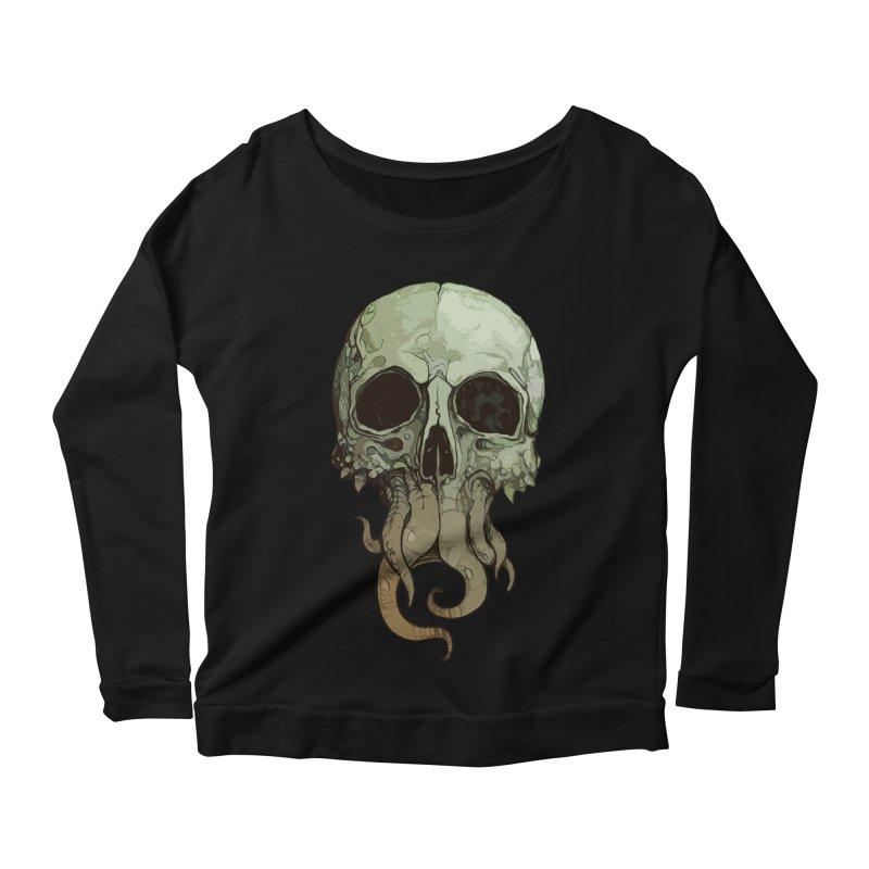 skull iii (cthulhu) Women's Longsleeve T-Shirt by saintdevil's Artist Shop