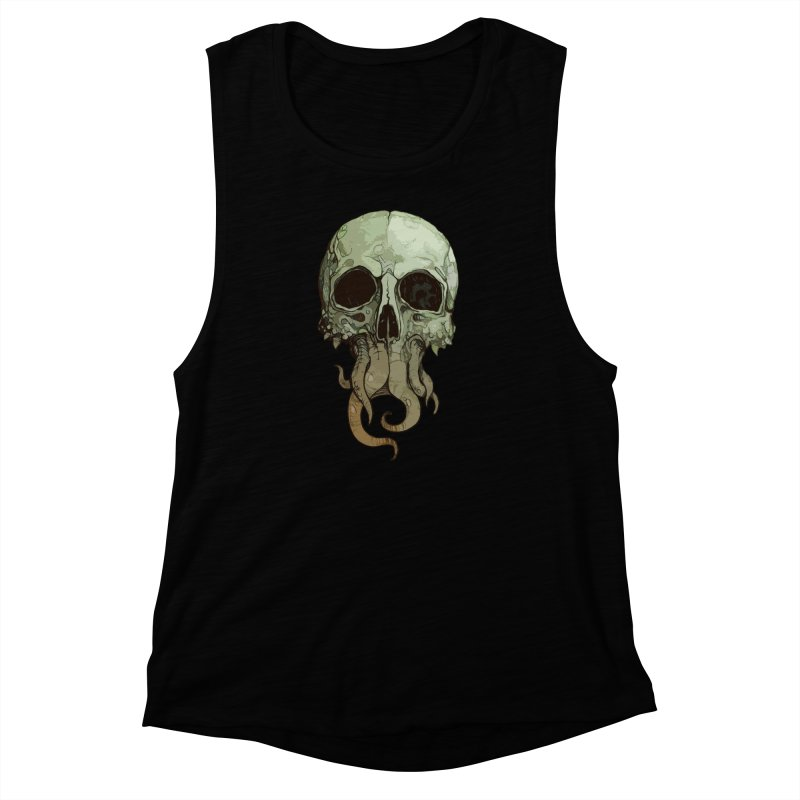 skull iii (cthulhu) Women's Muscle Tank by saintdevil's Artist Shop