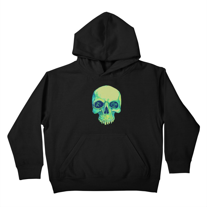 skull iv (skeletor) Kids Pullover Hoody by saintdevil's Artist Shop