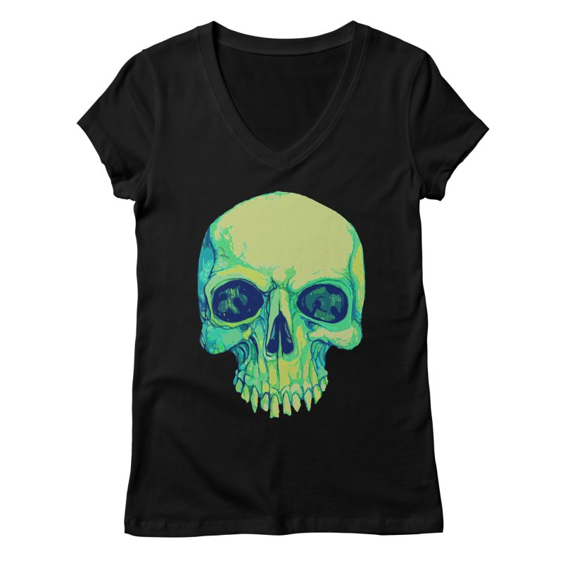skull iv (skeletor) Women's Regular V-Neck by saintdevil's Artist Shop