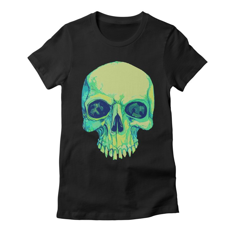 skull iv (skeletor) Women's Fitted T-Shirt by saintdevil's Artist Shop