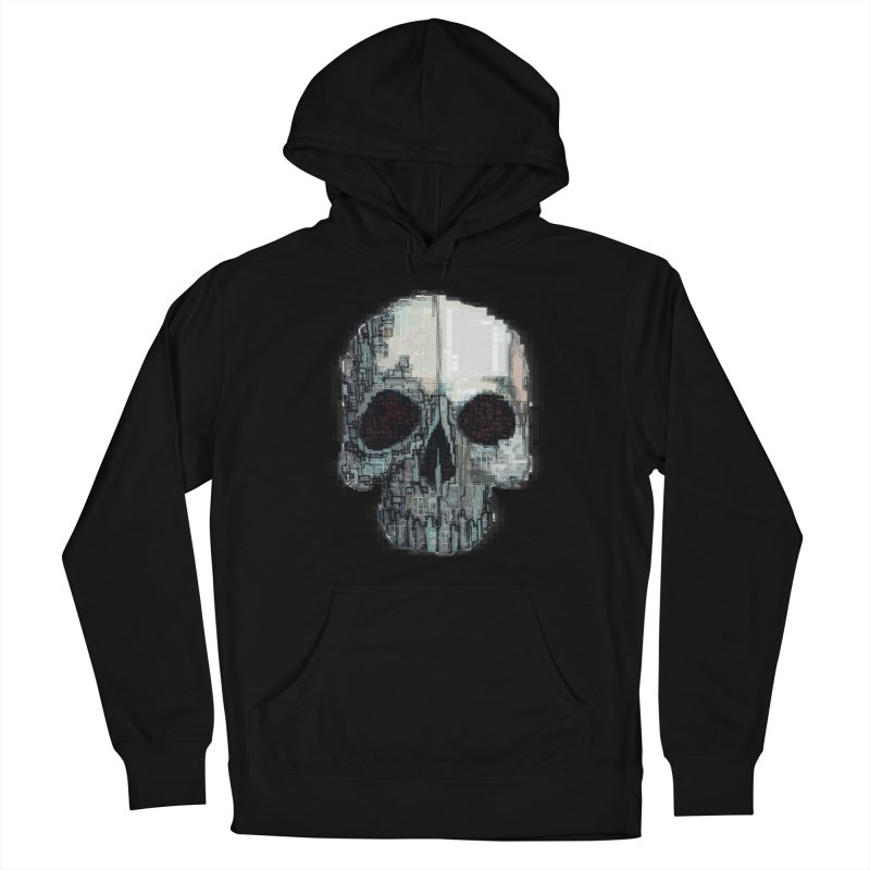 skull v (glitch) Women's Pullover Hoody by saintdevil's Artist Shop