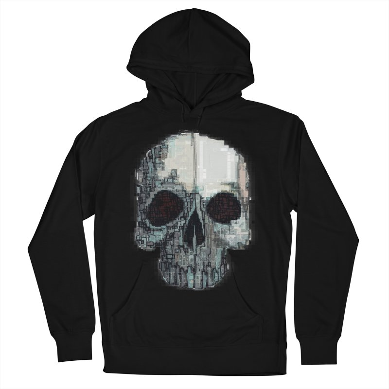 skull v (glitch) Men's French Terry Pullover Hoody by saintdevil's Artist Shop