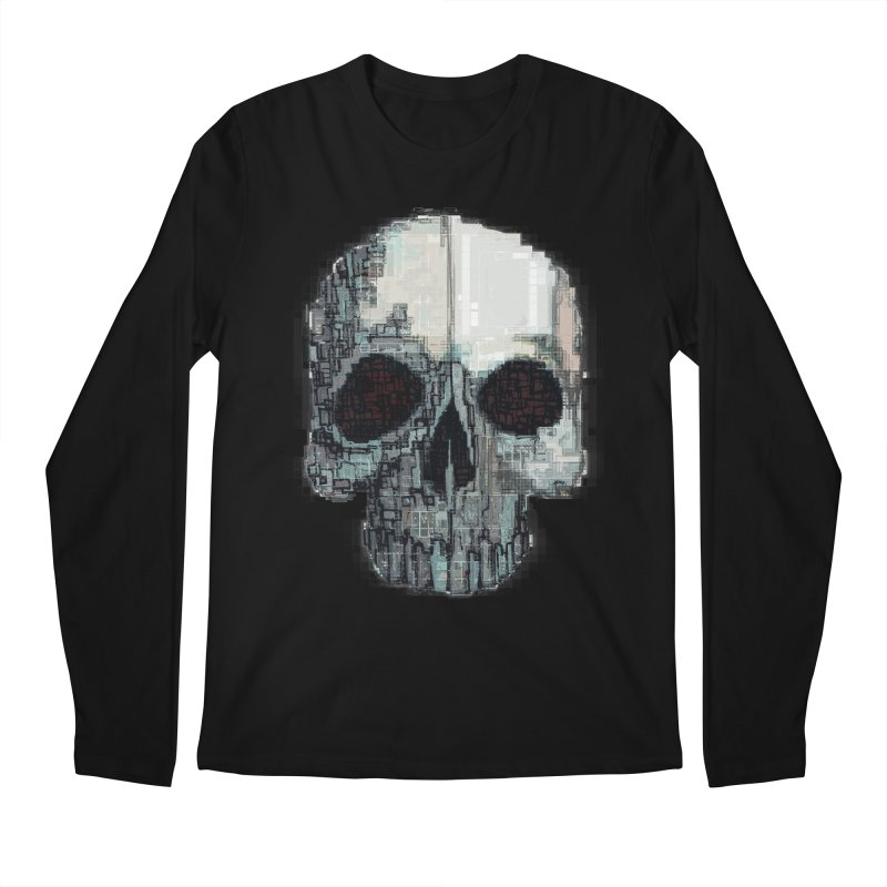 skull v (glitch) Men's Longsleeve T-Shirt by saintdevil's Artist Shop
