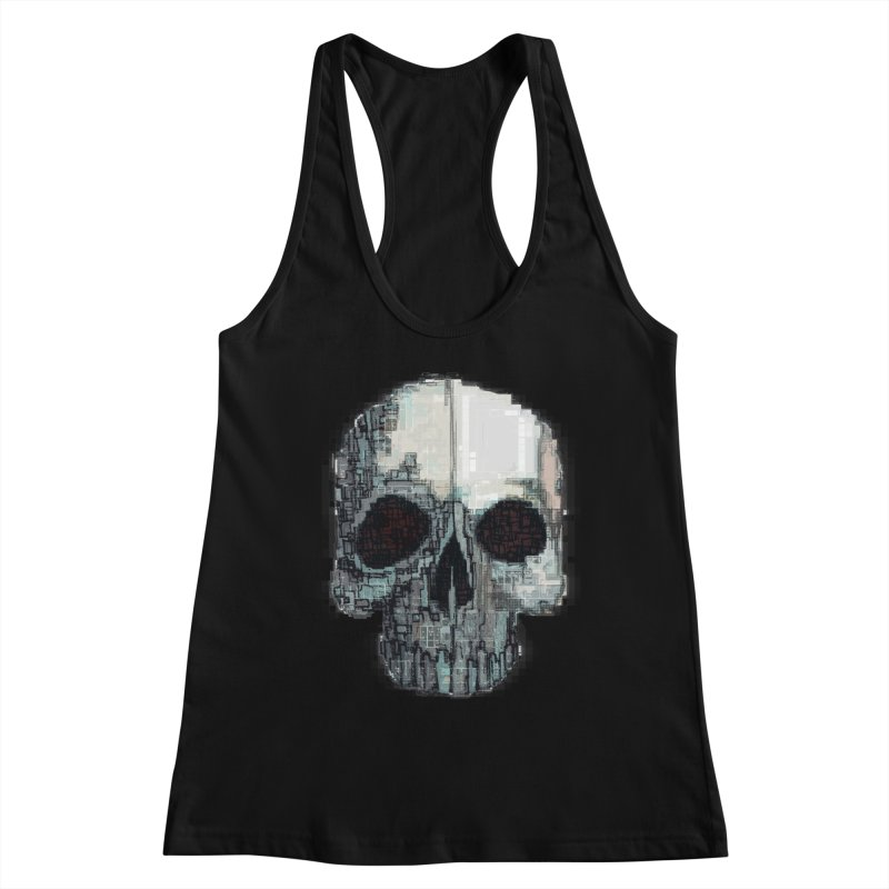 skull v (glitch) Women's Tank by saintdevil's Artist Shop