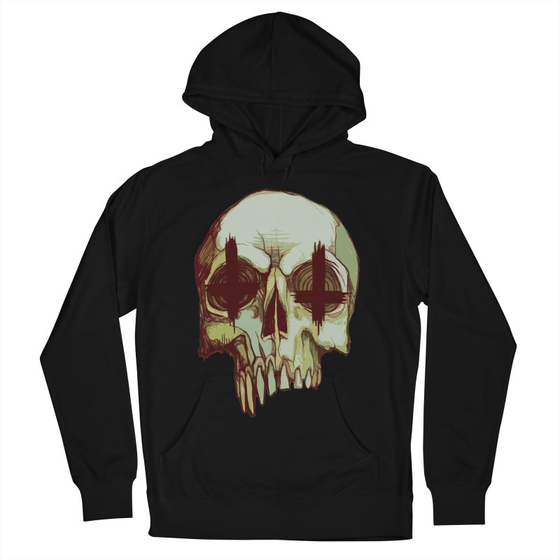 skull vi (evil) Men's French Terry Pullover Hoody by saintdevil's Artist Shop