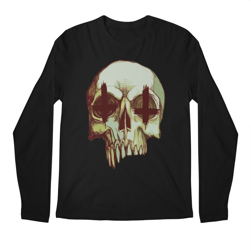skull vi (evil) Men's Longsleeve T-Shirt by saintdevil's Artist Shop