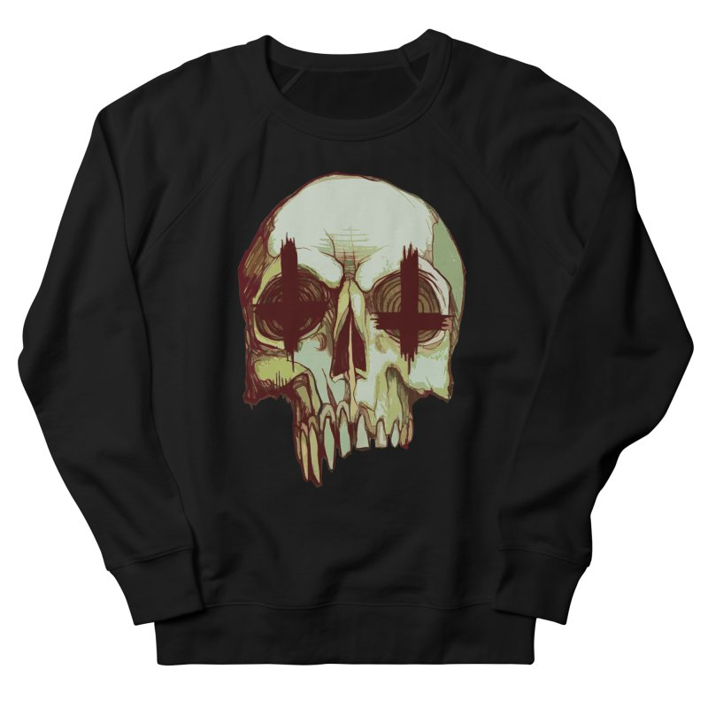 skull vi (evil) Men's French Terry Sweatshirt by saintdevil's Artist Shop