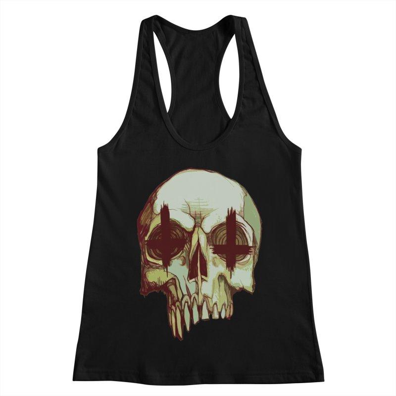 skull vi (evil) Women's Racerback Tank by saintdevil's Artist Shop