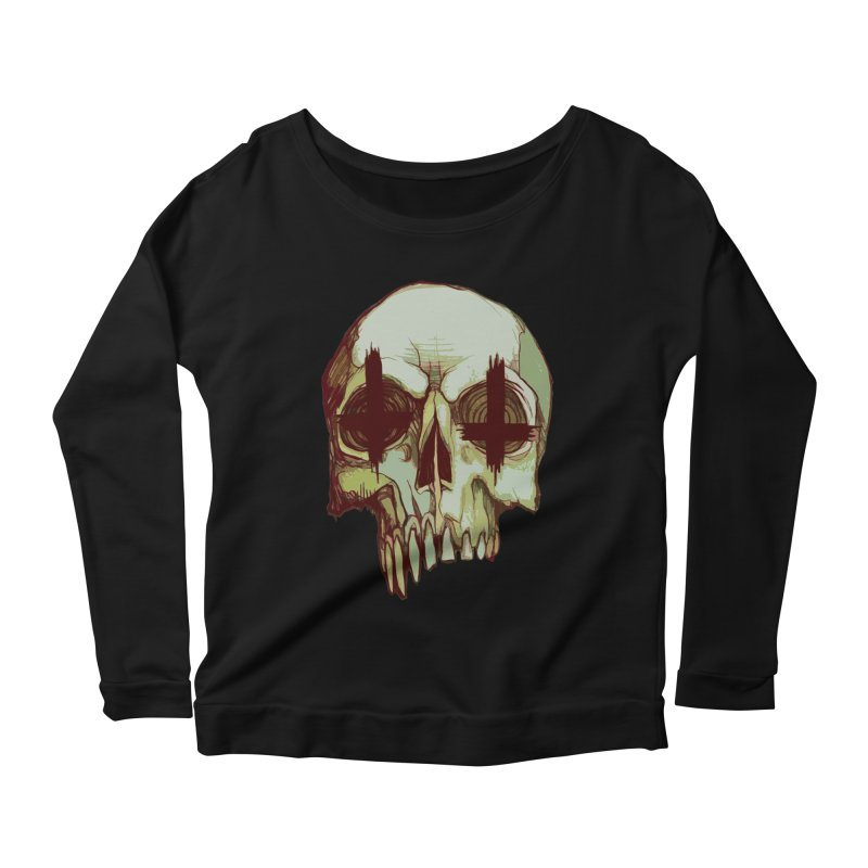skull vi (evil) Women's Longsleeve Scoopneck  by saintdevil's Artist Shop